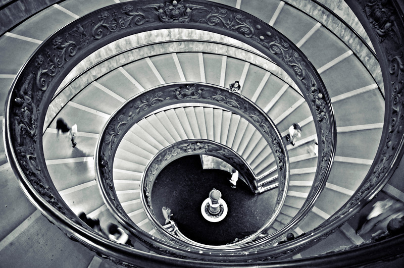 Rome Vatican Museum Staircase